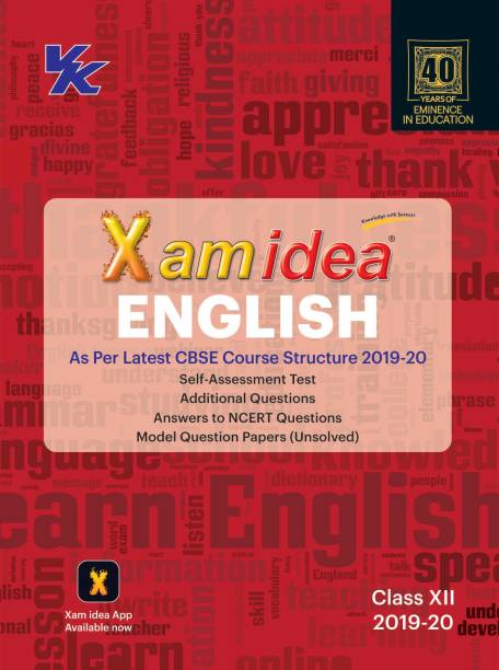 Xam Idea English as per Latest CBSE Course Structure for Class XII 2019 - 20 First Edition