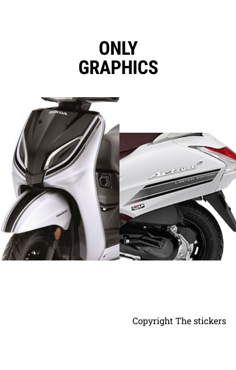 Activa Limited edition black and silver color graphics only - The stickers