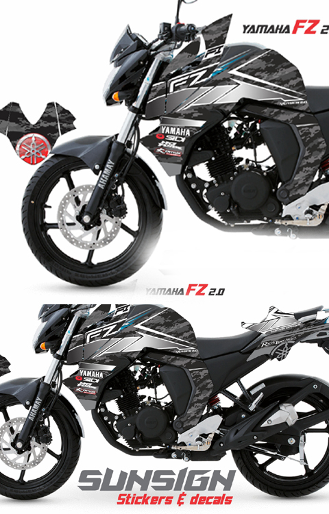 yamaha FZ v2 DECAL STICKER KIT
