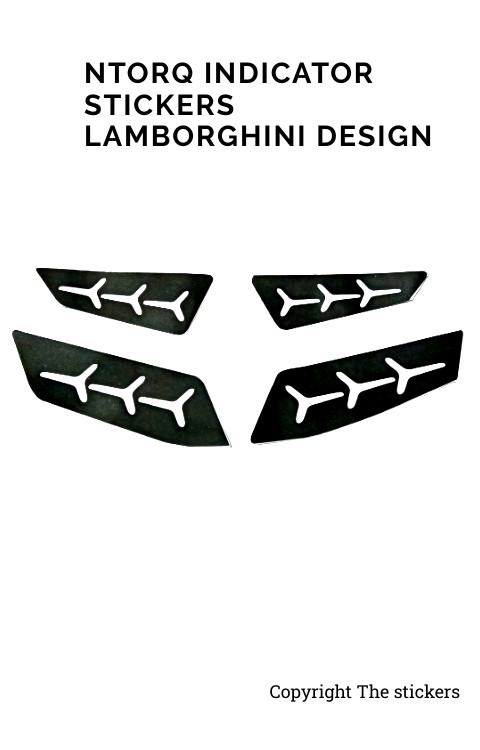 Lamborghini Design Indicator for TVS Ntorq 4 Side - The stickers