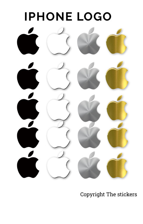 Iphone logo original size stickers all colors - The stickers