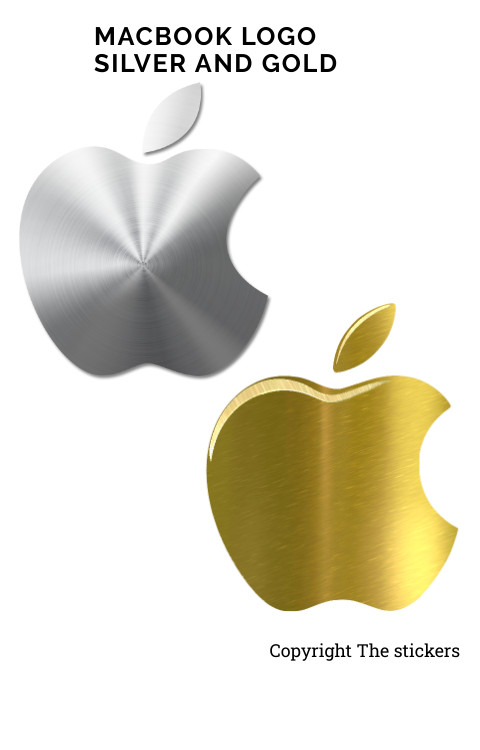Macbook logoOriginal size Gold & Silver - The stickers