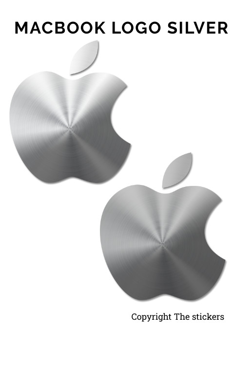 Apple macbook logo original size silver - The stickers