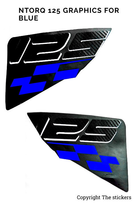 Ntorq Race Edition BLUE 125 both side Graphics Only- The stickers