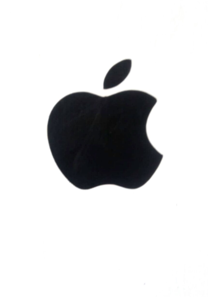 Apple logo for any Laptop Black color orignal size