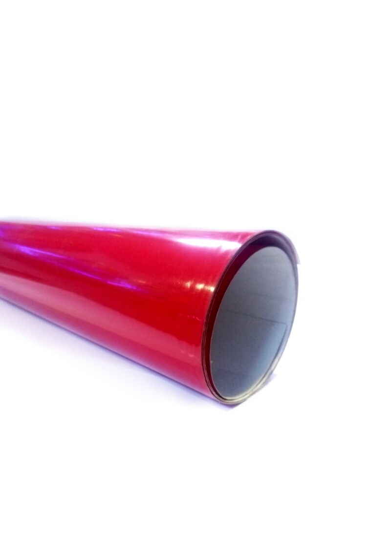 Vinyl paper Red Shining color High Quality Size 100cm ( 1sqr ft.)