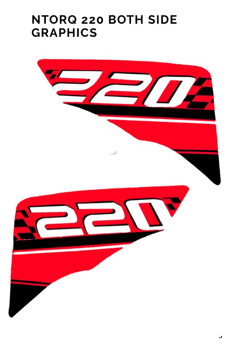 TVS Ntorq 125 Both Side Graphics Stickers in 200 Design - The stickers