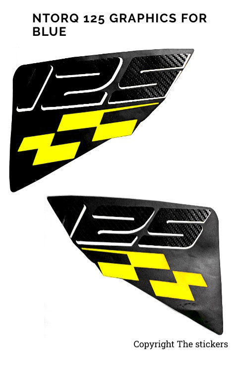 Ntorq Race Edition 125 Sticker Yellow Color - The stickers