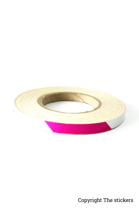 Radium Tape For Bike Alloywheel White and Purple - The stickers