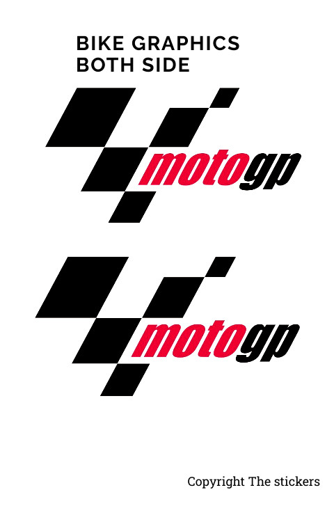 Moto GP Bike stickers both side custom colors 2Pc - The stickers