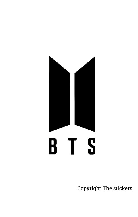 BTS Logo sticker matte black for any Laptop - The stickers