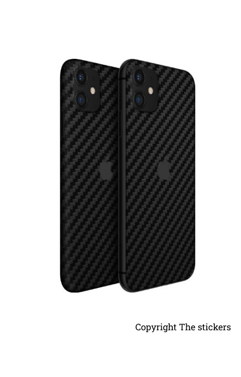 iphone 11 pro wrapping Paper carbon Black for Redmi, Realme, Oppo, Vivo,Honor - The stickers