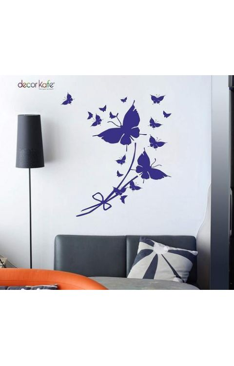 Butterfly Flower wall stickers 110cm x 70cm- The stickers