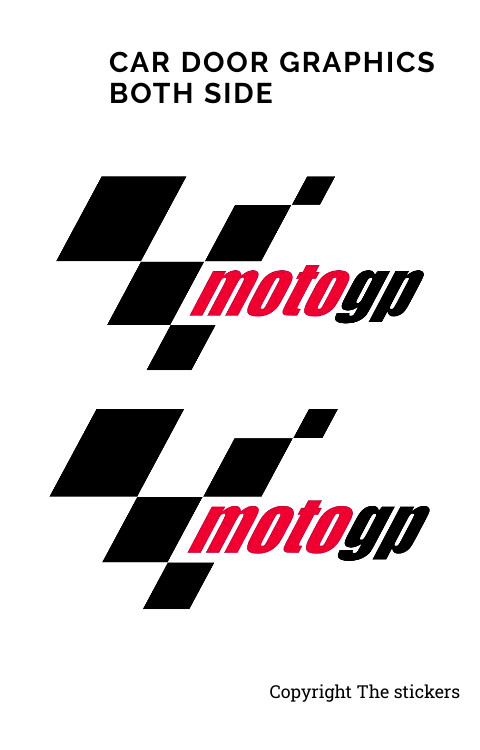Moto GP Car door Graphics Custom Colors Free Size - The stickers