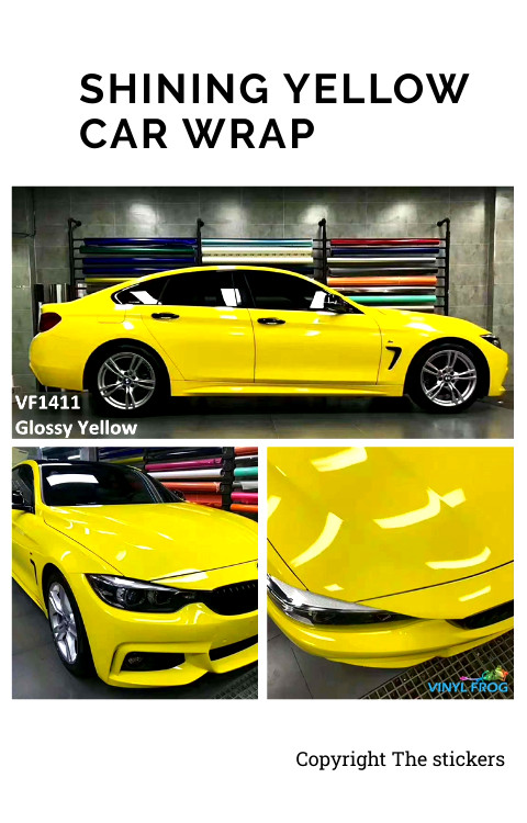 Full Car Wrap Shining Yellow (Home Service) - The stickers