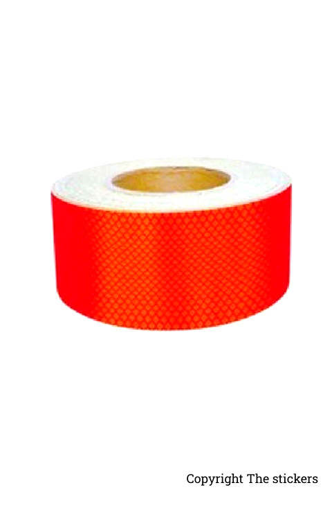 High Quality Retro Radium Tape Red (2inch x 5ft) - The stickers