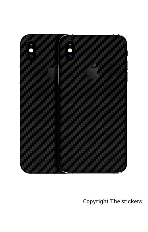 Iphone carbon Paper black for All mobile - Redmi, Realme, Oppo, Vivo,Honor - The stickers