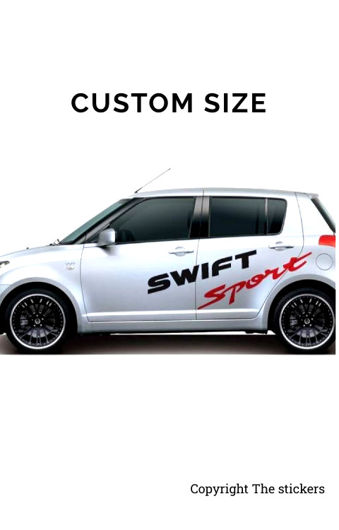 Swift Car door Graphics Matte Black and Red Free Size - The stickers