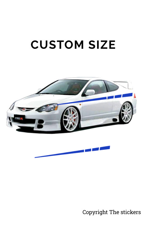 Car door Graphics Matte Blue Free Size - The stickers