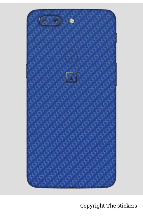 Oneplus wrapping paper chrome blue with logo  - The stickers