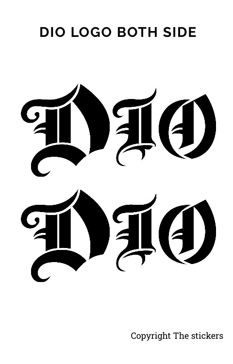 Dio Design Logo Sticker Matte Black Both Side - The stickers