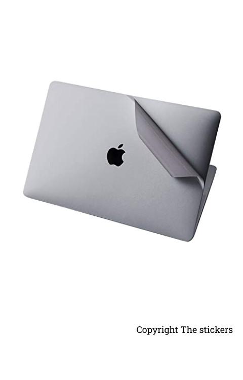Macbook Pro Wrapping paper for any Laptop silver Whole Side with Apple logo - The stickers