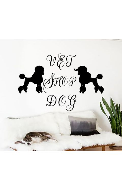 Dog Wall stickers 90cm x 120cm matte black - The stickers