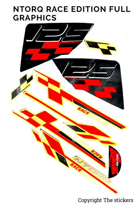 Ntorq Race Edition Graphics Stickers - The stickers