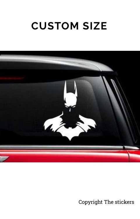 Car Back Glass Graphics White Free Size - The stickers