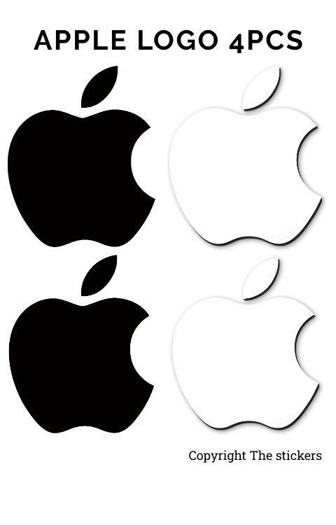 Apple macbook logo original size White & Black - The stickers