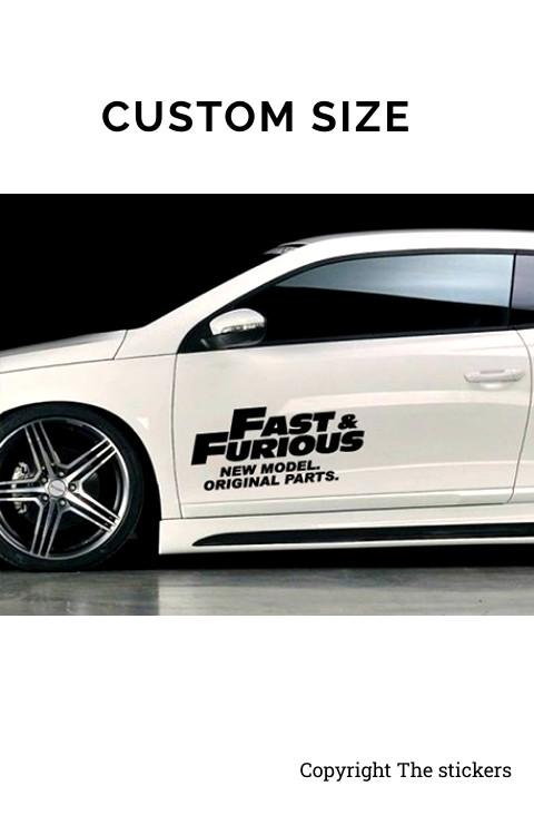 Fast and Furious door graphics Matte Black Free Size - The stickers
