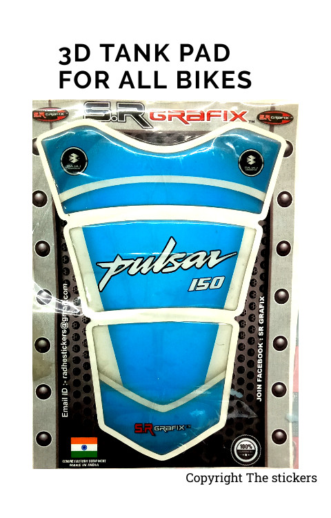 3D Tank Pad For All Bikes Pulsar, Bullet, KTM,R15 - The Stickers