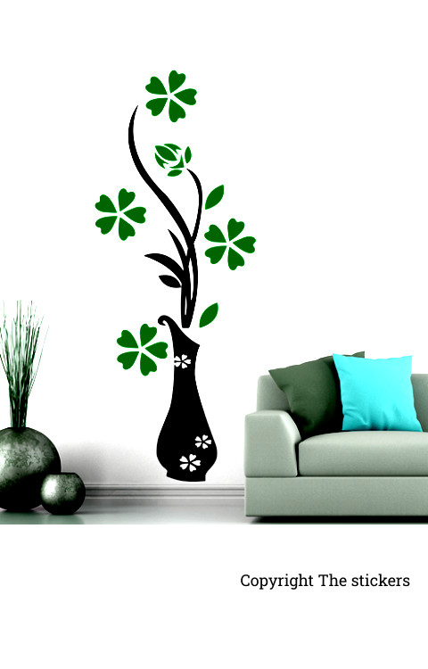 Wall stickers flower design All colors 36x12 inch .(lxb) - The stickers