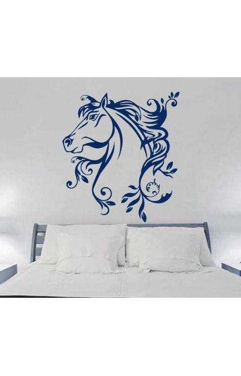 Flying Horse wall stickers 110cm x 110cm matte black - The stickers