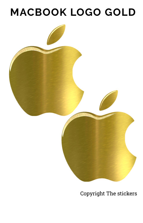 Macbook logo orignal size Gold color - The stickers