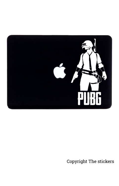 PUBG graphics matte black/white for any Laptop - The stickers