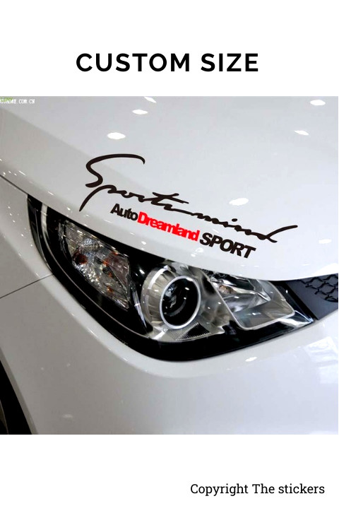 Car Headlight Graphics Matte Black Free Size - The stickers