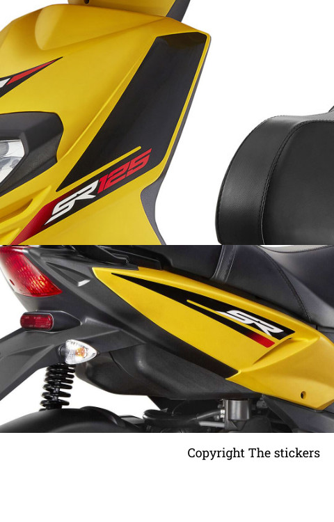 Aprilia SR 150 graphics for all scooty  - The stickers