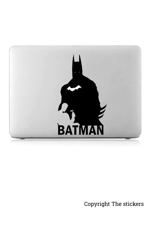 Batman graphics matte black for any Laptop - The stickers