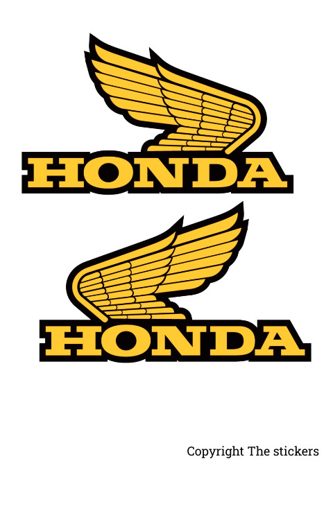 Honda shine tank logo yellow colour - the stickers