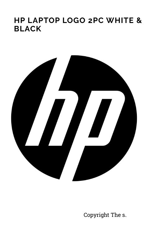 HP logo Sticker original size for any Laptop - The stickers