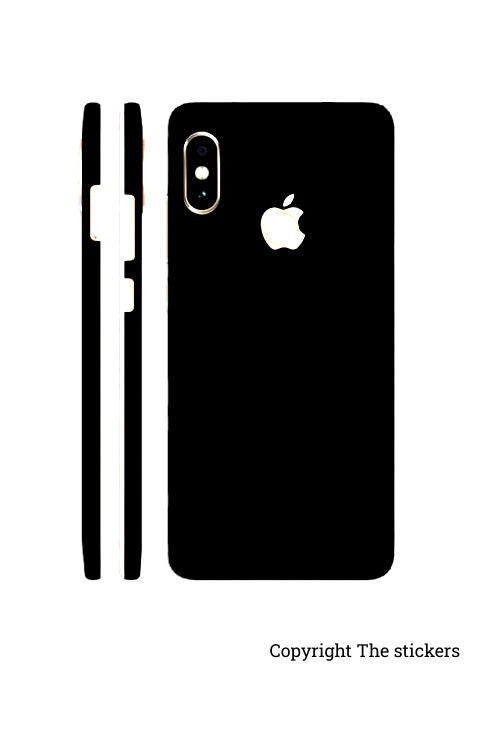 Iphone Paper Shining Black for All mobile - Redmi, Realme, Oppo, Vivo,Honor - The stickers