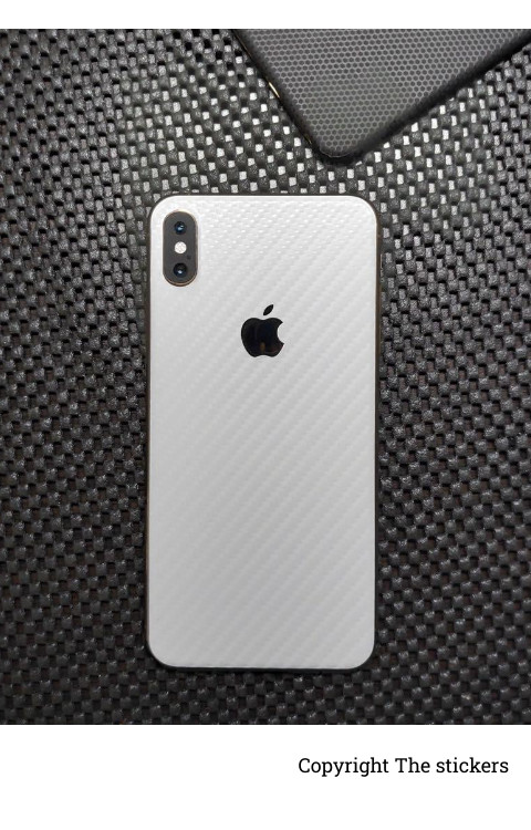 Iphone carbon Paper white for All mobile - Redmi, Realme, Oppo, Vivo,Honor - The stickers
