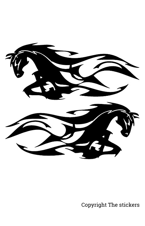 Rider horse Logo stickers white with Black for mobile, laptop and bike - The Stickers