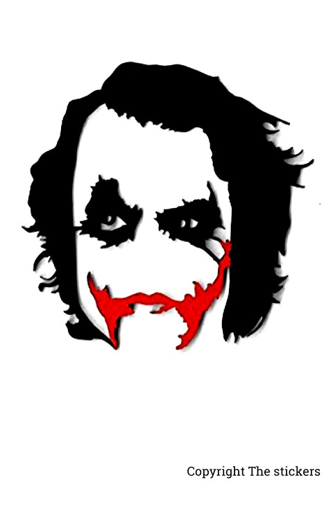 Joker mask with White and red for laptop,Bike and Mobile - The stickers