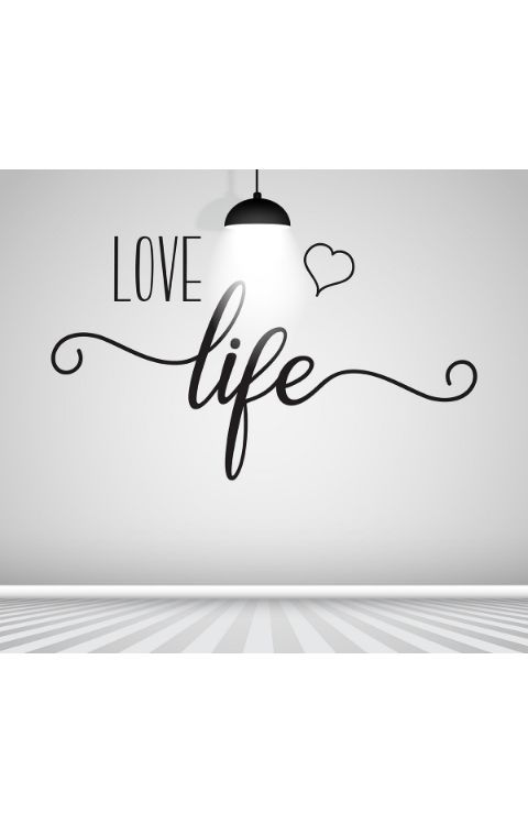 Love Life Wall stickers 140cm x 80cm matte black - The stickers