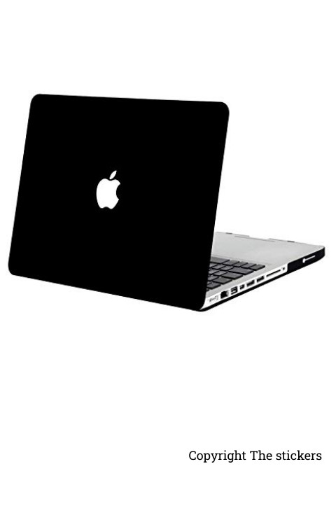 Macbook Pro Wrapping paper for any Laptop matte black with Apple logo - The stickers