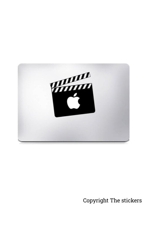 Macbook Pro Wrapping paper for any Laptop with Apple and Media logo - The stickers