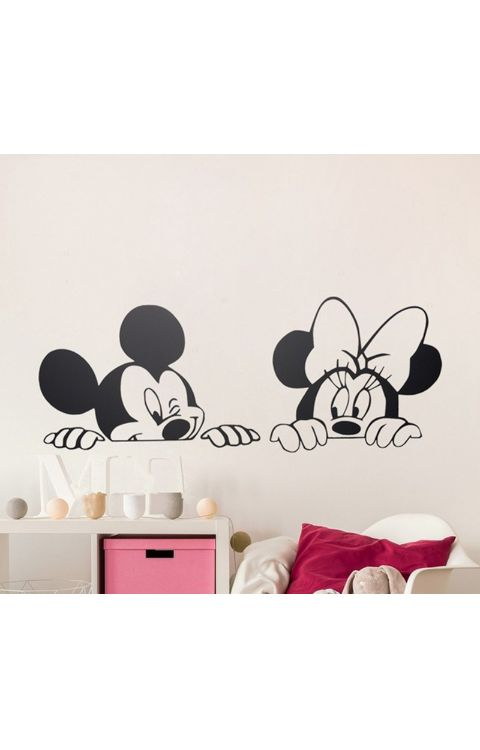 Micky Mouse wall stickers 120cm x 50cm matte black - The stickers