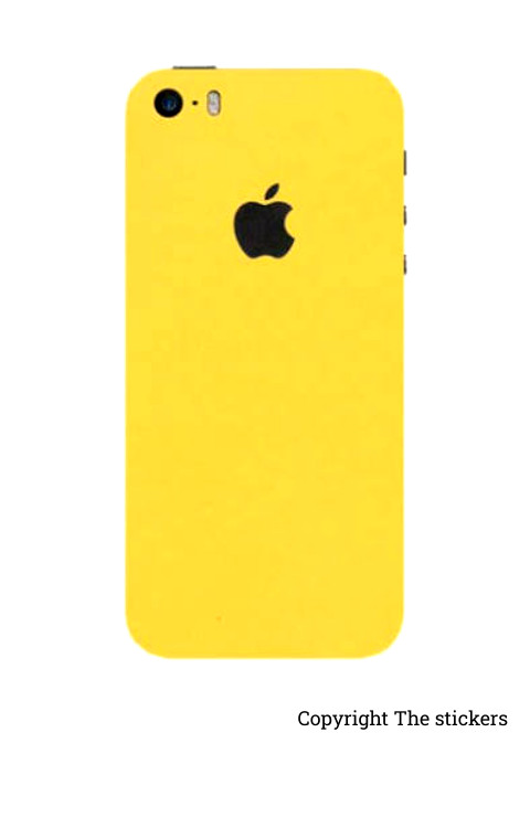 Iphone Paper Matte yellow for All mobile - The stickers